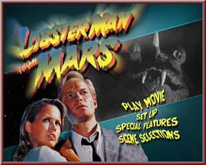 Lobster Man from Mars Lobster Man on Video